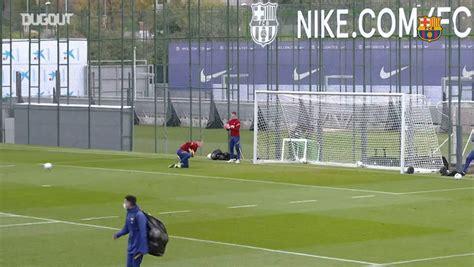 FC Barcelona's last training session ahead of Atletico ...