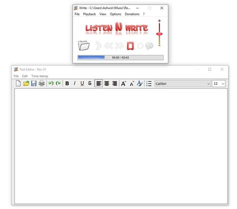 Transcribe text from audio recordings with Listen N Write ...
