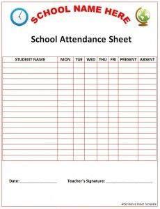 Free Attendance Sheet Template For Teachers Pin By Zanobia Bivins On Bilbeway Preschool Attendance Sheet Pinter