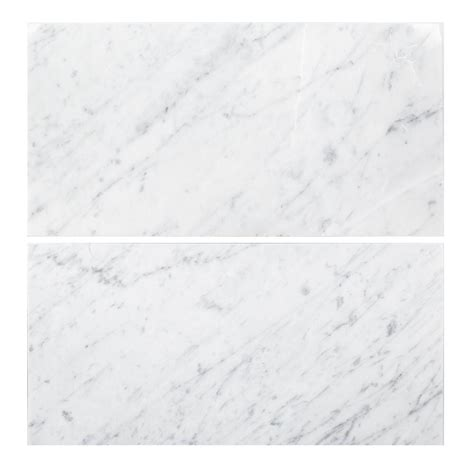 home depot marble tile 12x24 jeffrey court carrara 6 in x 12 in honed marble field
