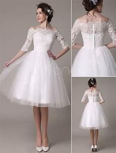 Robe Mariage 2018 : lace wedding dresses 2018 short off the shoulder a line ~ Melissatoandfro.com Idées de Décoration