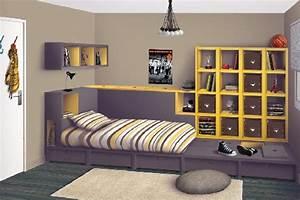 Rangement Chambre Ado : astuce rangement chambre ado visuel 3 ~ Voncanada.com Idées de Décoration
