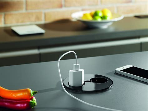 prise electrique design cuisine prise électrique de plan de travail