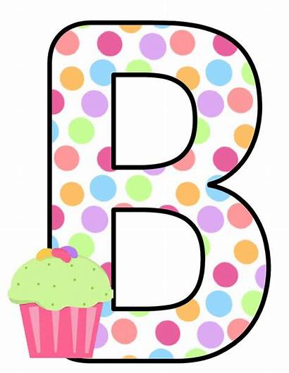 Alphabet Letters Clip Cupcake Cupcakes Printable Colores