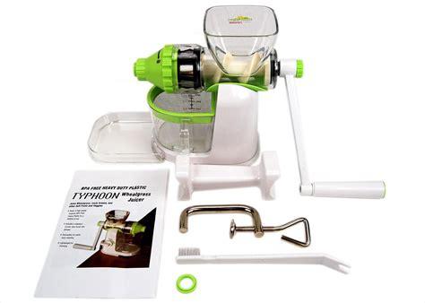 juicer wheatgrass typhoon manual wheat hand amazon extractor crank vegetable juice grass fruit kitchen