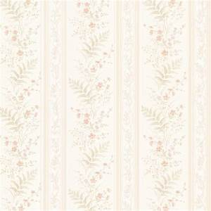 Brewster 56.4 sq. ft. Bell Peach Wildflower Stripe ...