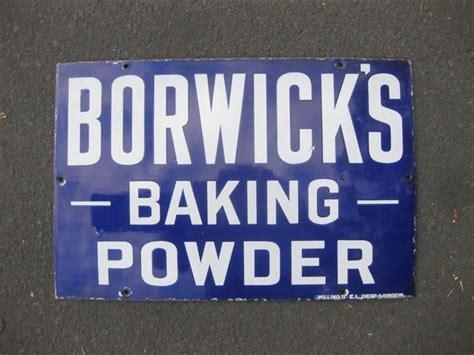 baking powder for sale shop stuff enamel sign borwicks baking powder