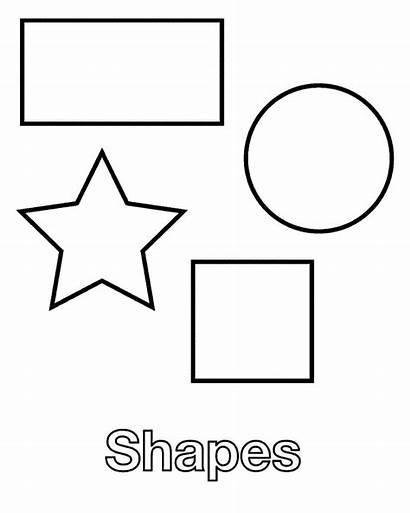 Shapes Coloring Printable Pages Shape Worksheet Basic