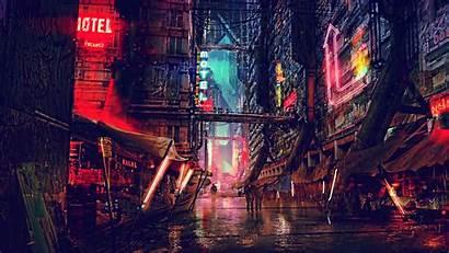 4k Cyberpunk Science Fiction Digital Futuristic Resolution