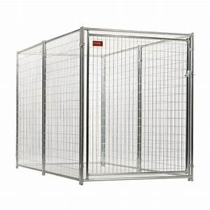 Shop lucky dog 10 ft x 5 ft x 6 ft outdoor dog kennel for Outdoor dog kennel kits