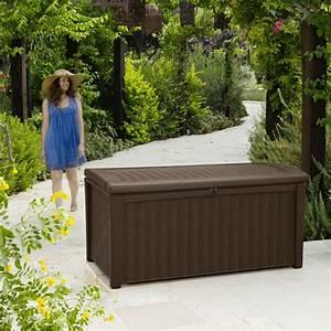 Auflagenbox Mit Sitzfunktion : keter garten box sitzbank aufbewahrungsbox kissenbox auflagenbox borneo 400l ebay ~ Buech-reservation.com Haus und Dekorationen