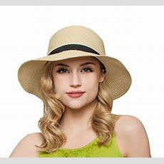 Women's Antiuv Fashion Wide Brim Summer Beach Cotton Sun