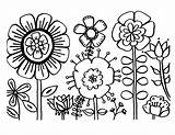 Coloring Flowers Flower Printable Pages Colour sketch template