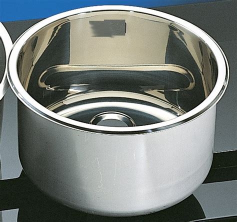 Cylindrical Sink Stainless 300mm Dia 180mm Deep Round