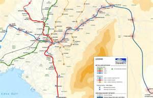 Athens Metro Map