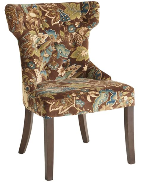 hourglass dining chair peacock floral 301 moved permanently
