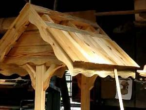 LOG CABIN / COTTAGE STYLE WISHING WELL PART 3 OF 3 - YouTube