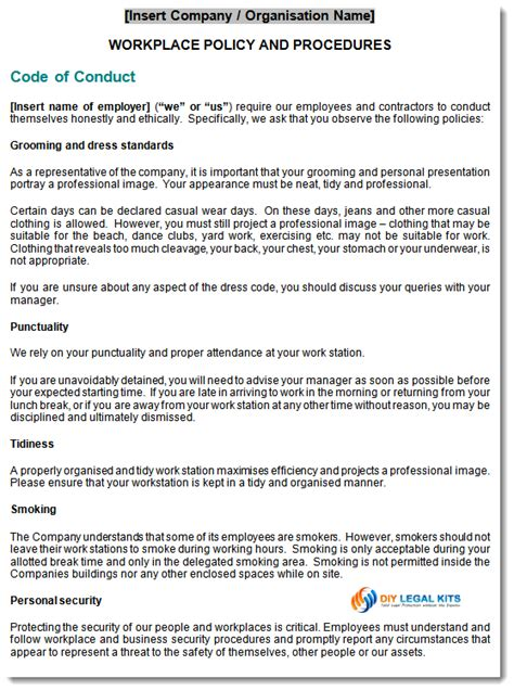 workplace harassment policy template workplace policy procedures template kit
