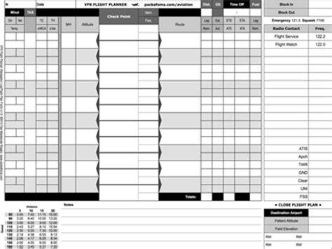 vfr flight planner faa flight plan form
