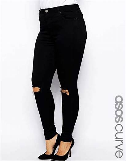 Jeans Ripped Skinny Curve Asos Waist Busted