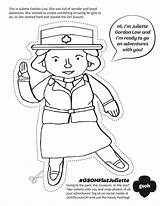 Juliette Gordon Low Coloring Scout Scouts Lowe Daisy Flat Activities Clipart Printable Brownie Swap Law Activity Heartland Badges Way Gs sketch template