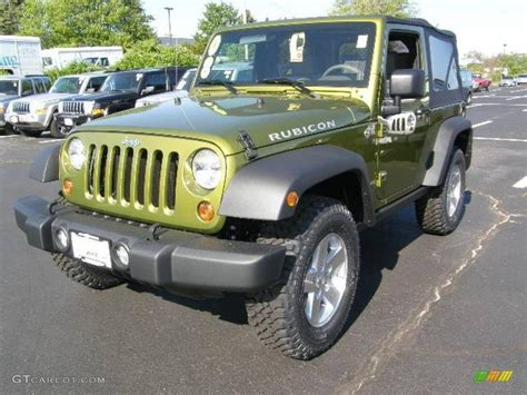 green jeep rubicon 2008 rescue green metallic jeep wrangler rubicon 4x4