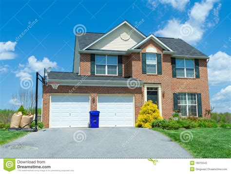 Sale Brick Single Family House Home Suburban USA Stock ...