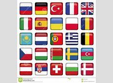 Le Icone Di Europa Hanno Quadrato Le Bandiere