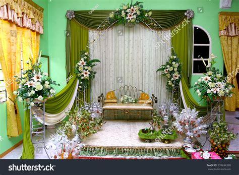 Malay Traditional Wedding Stage Decoration Stock Photo