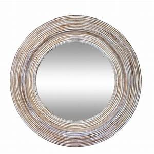 buy clay and white round wall mirror With best brand of paint for kitchen cabinets with circle mirror wall art
