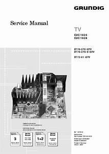 Grundig Cuc1825 Tv Sm Service Manual Download  Schematics  Eeprom  Repair Info For Electronics