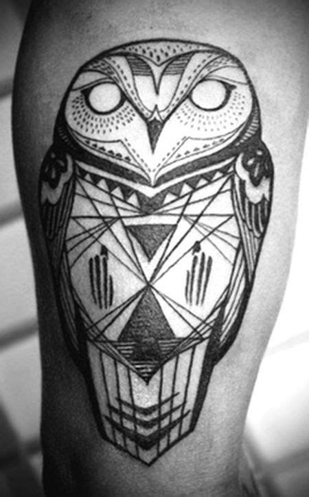 Owl black and white tattoo by David Hale -   TattooMagz