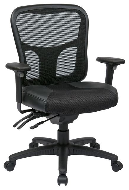 officestar progrid high back managers chair with leather