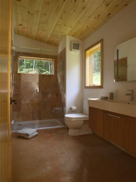modern cabin contemporary bathroom burlington