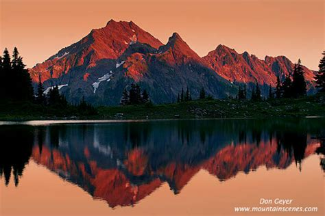 Mount Steel Reflection in Olympic National Park, prints ...
