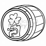 Beer Keg Clip Barrel Drawing Irish Clipart Getdrawings Vector Royalty sketch template