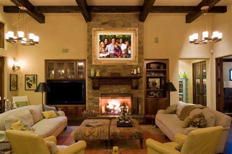 hang family portrait  fireplace   ideas