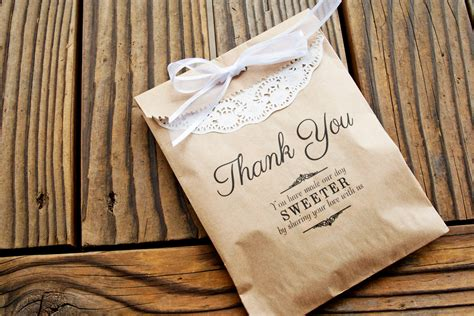 Favor Bags Wedding Favor Kraft Bags Thank You Message By