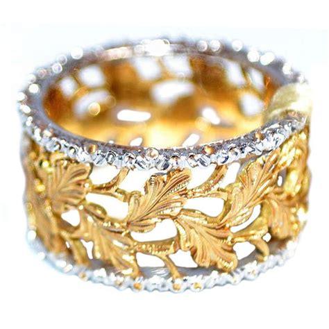 mario buccellati  yellow  white gold ring www