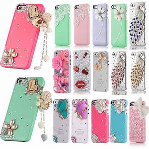 For Apple iPhone 5 5S Bling Cute Diamond Crystal Pearl ...