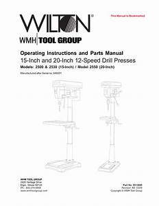 Operating Instructions And Parts Manual