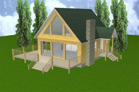 24x28 Cabin w/Loft & Basement Plans Package Blueprints