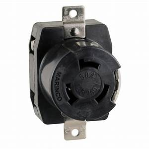 Marinco 50a 125  250v Wire Dockside Receptacle