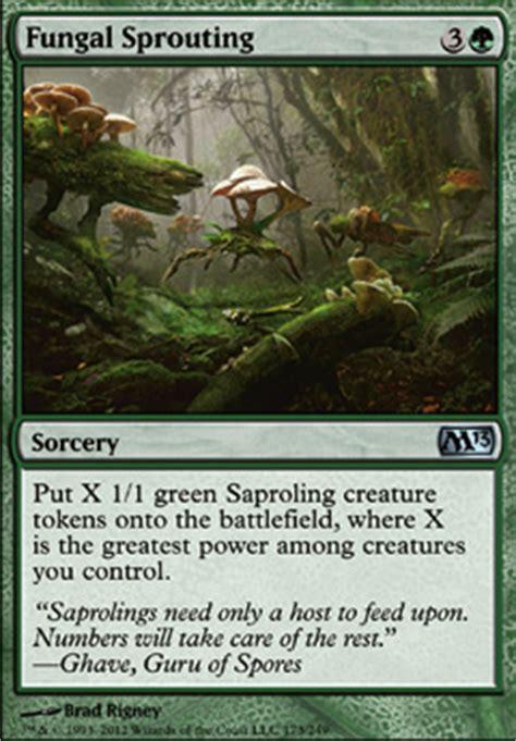 saproling deck mono green fungal sprouting m13 mtg card