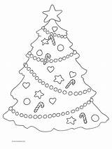 Coloring Christmas Pages Tree Decorations Star Colouring Trees Printable Clipart Clipartqueen Adults Cooloring sketch template