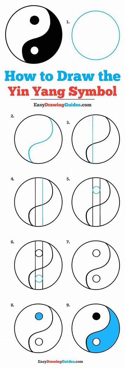 Yang Yin Symbol Draw Drawing Easy Tutorial