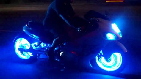 blue led lights on your motorcycle by all things chrome