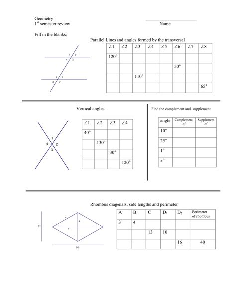 worksheet parallel lines and transversals geometry pdf free printables worksheet