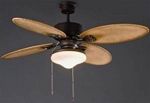 Lombok dark brown classic ceiling fans with light