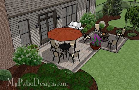 simple and affordable brick patio design downloadable